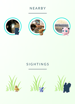 how to find pokemon nearby